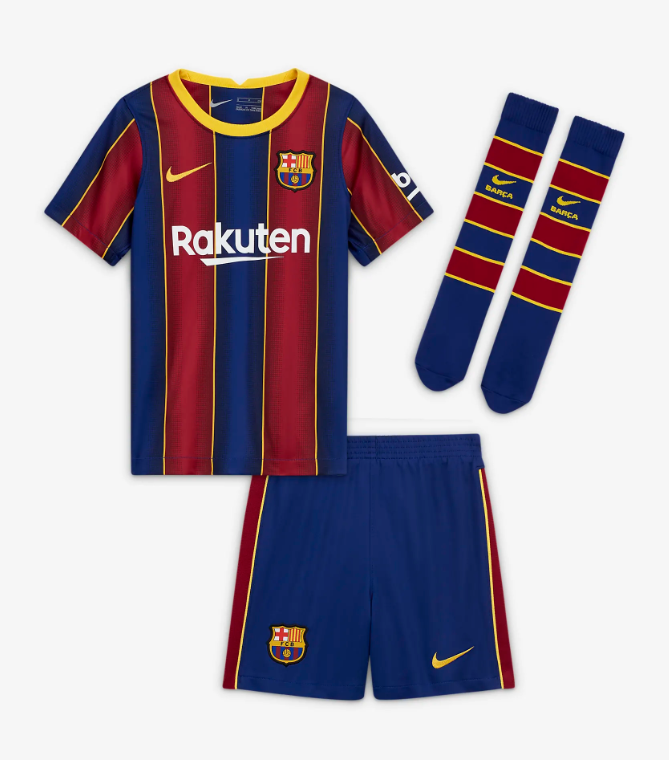 Fc Barcelona 20 21 Authentic Home Kids Kit By Nike
