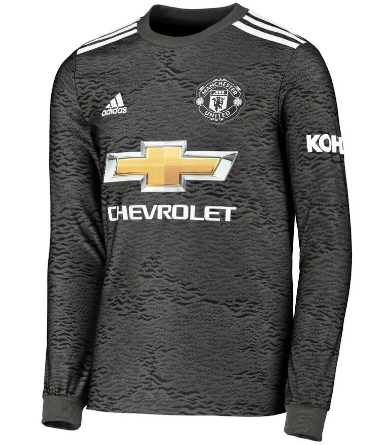 Manchester United 20/21 Away Long Sleeve Jersey by adidas ...