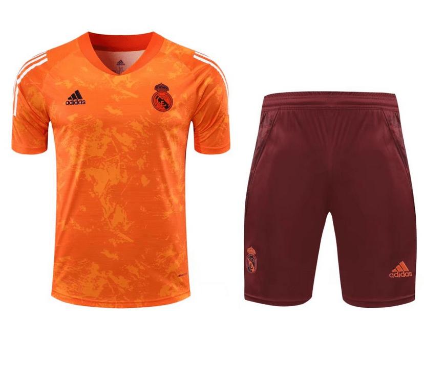 Real Madrid 20/21 UCL Orange Pre Match Training Kit by adidas ...