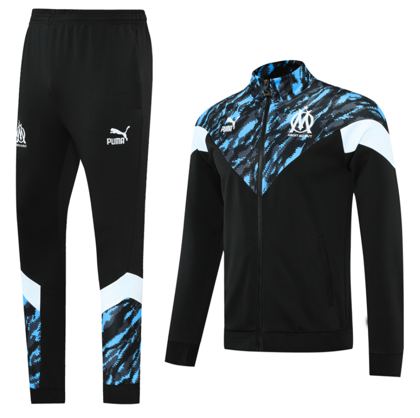 Olympique Marseille 20/21 Black Tracksuit by PUMA - BuyArrive -