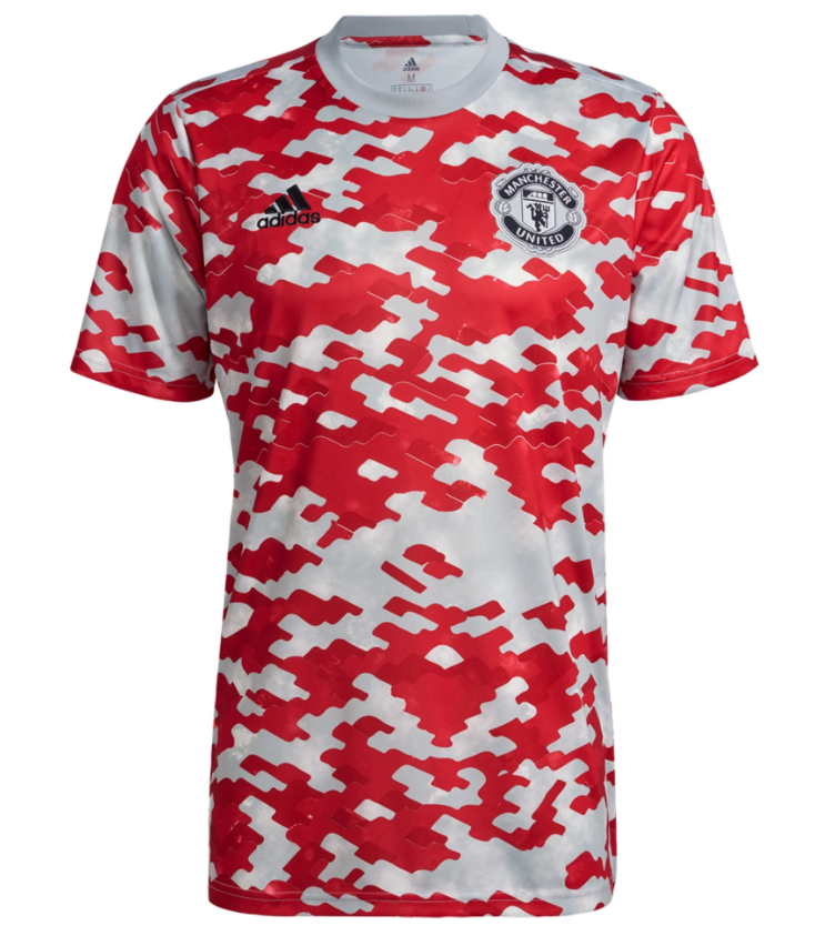 Manchester United 21/22 Pre Match Training Jersey by adidas | Buy ...
